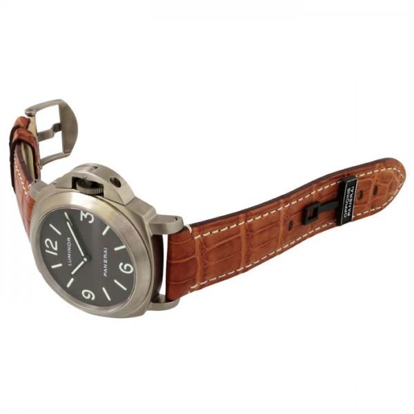 super popular c23b8 56bae パネライ PANERAI ルミノール ベース PAM00055 ブラウン文字盤 メンズ 腕時計 【中古】 株式会社ジェムキャッスルゆきざき