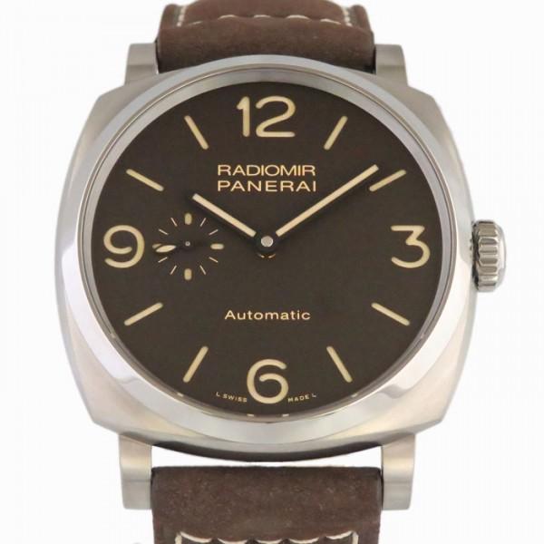 パネライ PANERAI ラジオミール チタニオ 3デイズ PAM00619 ブラウン文字盤 メンズ 腕時計 【新品】