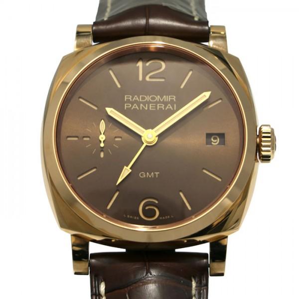 パネライ PANERAI ラジオミール 1940 3デイズ GMT オロロッソ 世界限定300本 PAM00570 ブラウン文字盤 メンズ 腕時計 【未使用】