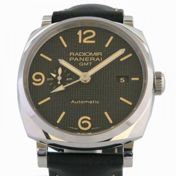 パネライ PANERAI ラジオミール 1940 3デイズ GMT オートマティック アッチャイオ PAM00627 ブラック文字盤 メンズ 腕時計 【新品】