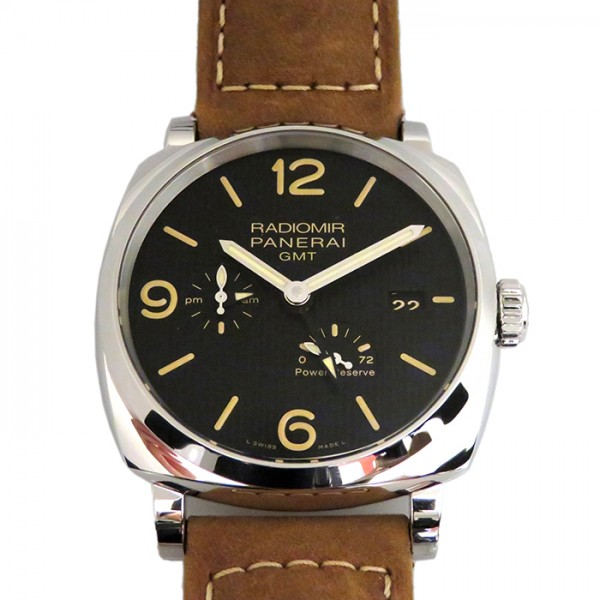 【期間限定ポイント5倍 5/5~5/31】 パネライ PANERAI ラジオミール 1940 3デイズ GMT パワーリザーブ オートマティック アッチャイオ PAM00658 ブラック文字盤 メンズ 腕時計 【新品】