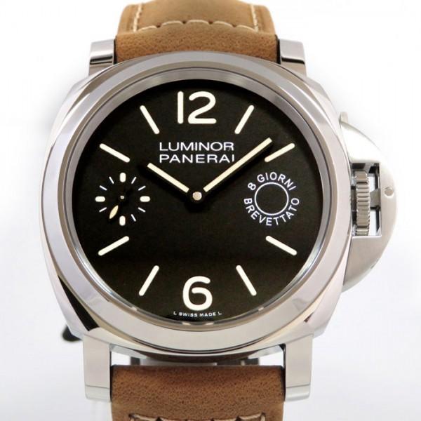 パネライ PANERAI ルミノール マリーナ 8デイズ アッチャイオ PAM00590 ブラック文字盤 メンズ 腕時計 【新品】