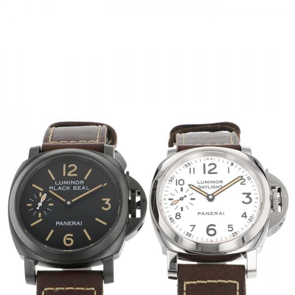 パネライ PANERAI ルミノール 8デイズ ブラックシール & デイライト PAM00785 ブラック/ホワイト文字盤 メンズ 腕時計 【中古】