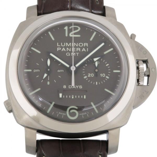 パネライ PANERAI ルミノール1950 8デイズ クロノグラフ モノプルサンテ GMT PAM00311 ブラウン文字盤 メンズ 腕時計 【新品】