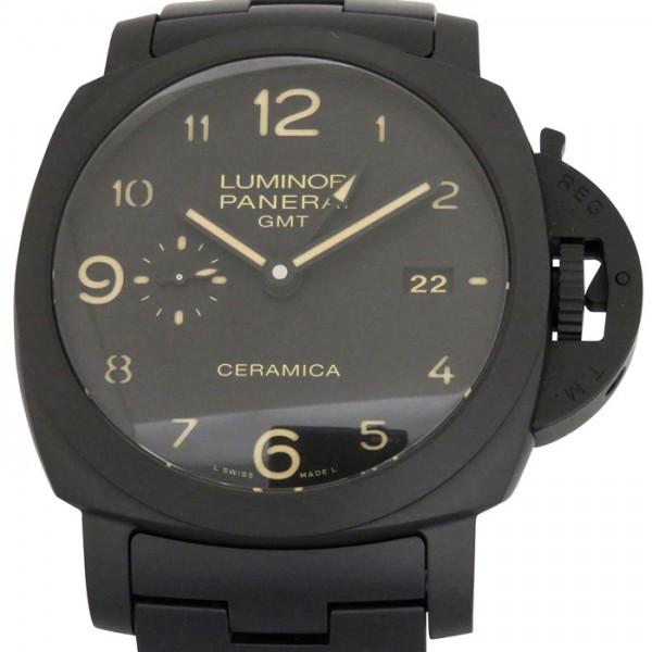 【期間限定ポイント5倍 5/5~5/31】 パネライ PANERAI ルミノール1950 3デイズ GMT トゥットネロ PAM00438 ブラック文字盤 メンズ 腕時計 【新品】