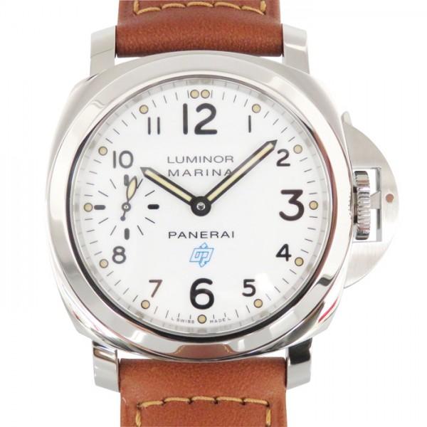 パネライ PANERAI ルミノール マリーナ ロゴ アッチャイオ PAM00660 ホワイト文字盤 メンズ 腕時計 【新品】