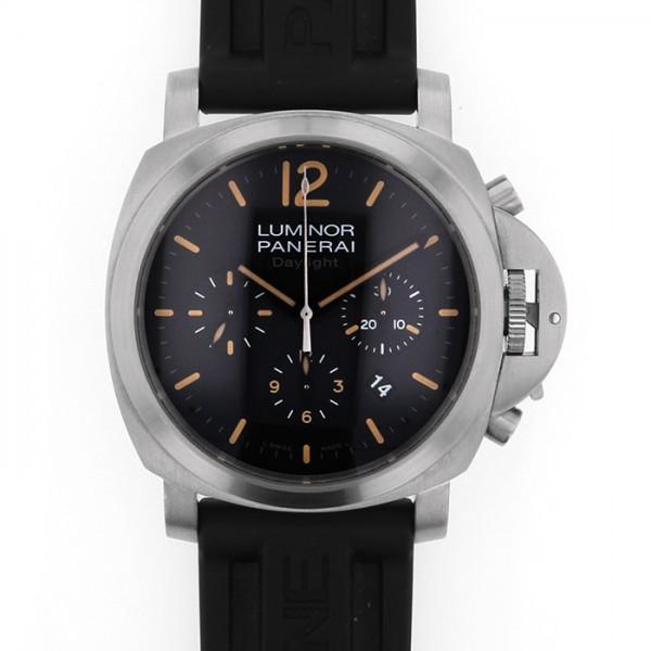 パネライ PANERAI ルミノール クロノグラフ デイライト PAM00356 ブラック文字盤 メンズ 腕時計 【中古】