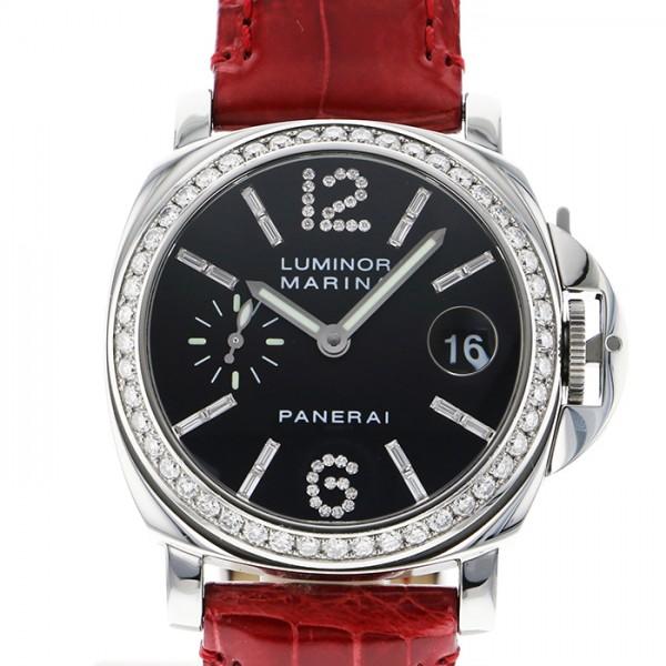 パネライ PANERAI ルミノール マリーナ ダイヤモンドコレクション 世界限定90本 PAM00096 ブラック文字盤 メンズ 腕時計 【中古】
