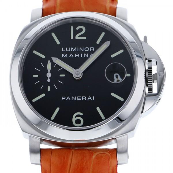 パネライ PANERAI ルミノール マリーナ オートマティック PAM00048 ブラック文字盤 メンズ 腕時計 【中古】