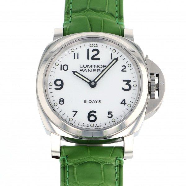 【全品 ポイント10倍 4/9~4/16】パネライ PANERAI ルミノール ベース 8デイズ アッチャイオ PAM00561 ホワイト文字盤 メンズ 腕時計 【中古】