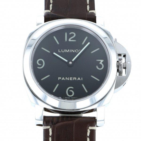 【全品 ポイント10倍 4/9~4/16】パネライ PANERAI ルミノール ベース PAM00112 ブラック文字盤 メンズ 腕時計 【中古】