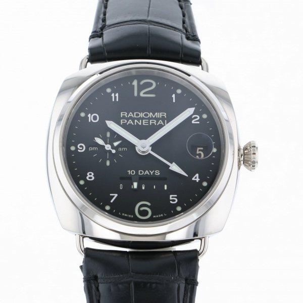 パネライ PANERAI ラジオミール 10デイズ GMT オロビアンコ 世界限定250本 PAM00496 ブラック文字盤 メンズ 腕時計 【中古】