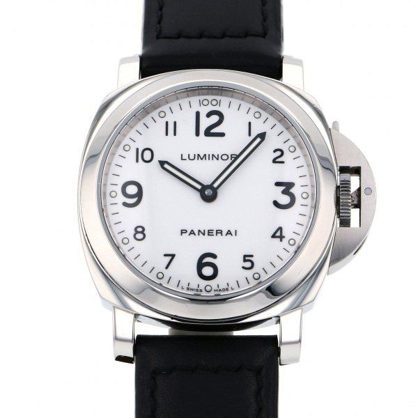 【期間限定ポイント5倍 5/5~5/31】 パネライ PANERAI ルミノール ベース PAM00114 ホワイト文字盤 メンズ 腕時計 【中古】