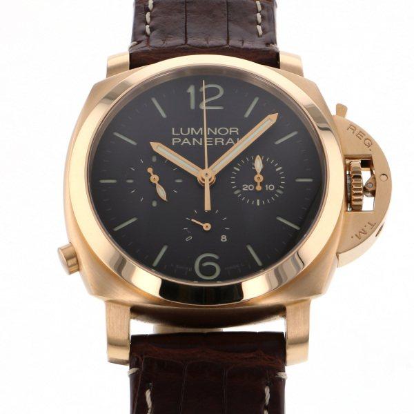 パネライ PANERAI ルミノール1950 8デイズ クロノグラフ モノプルサンテ 世界限定150本 PAM00344 ブラウン文字盤 メンズ 腕時計 【中古】