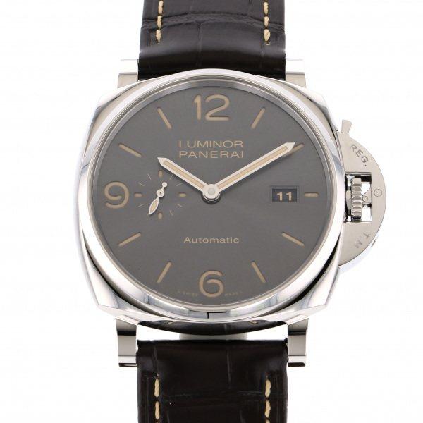 パネライ PANERAI ルミノール ドゥエ 3デイズ オートマティックアッチャイオ PAM00943 グレー文字盤 メンズ 腕時計 【新品】