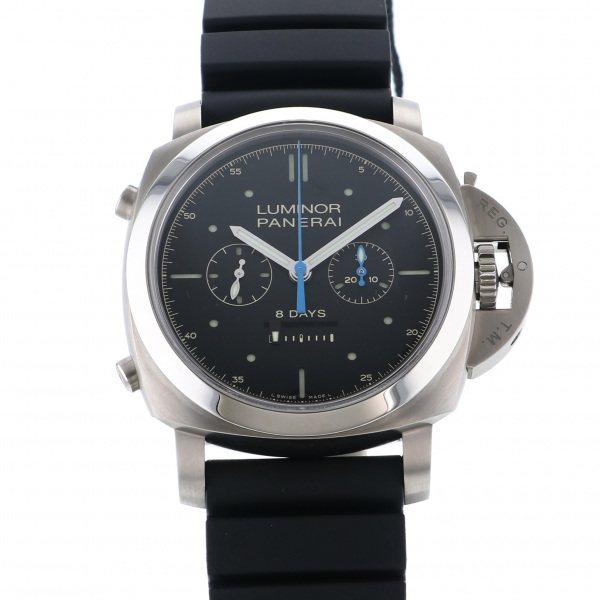 パネライ PANERAI ルミノール1950 ラトラパンテ 8デイズ チタニオ PAM00530 ブラック文字盤 メンズ 腕時計 【新品】