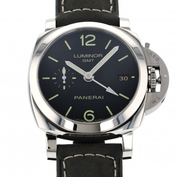 パネライ PANERAI ルミノール1950 3デイズ GMT アッチャイオ PAM00535 ブラック文字盤 メンズ 腕時計 【新品】