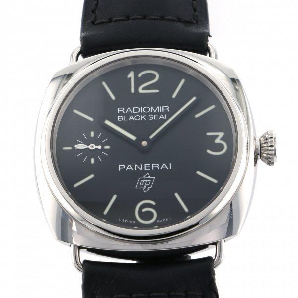 パネライ PANERAI ルミノール1950 レフトハンド 3デイズ アッチャイオ PAM00380 ブラック文字盤 メンズ 腕時計 【中古】
