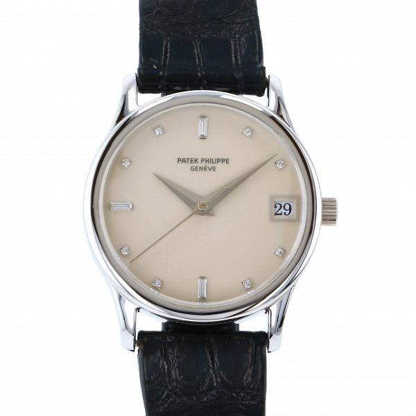 パテック・フィリップ PATEK PHILIPPE カラトラバ 3998P アイボリー文字盤 メンズ 腕時計 【中古】