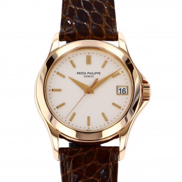 パテック・フィリップ PATEK PHILIPPE カラトラバ 5107R-001 シルバー文字盤 メンズ 腕時計 【中古】
