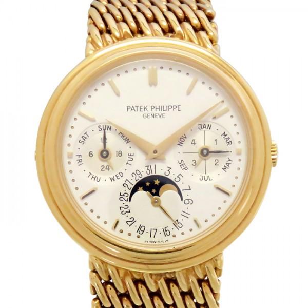 パテック・フィリップ PATEK PHILIPPE その他 パーペチュアルカレンダー 3945/1 ホワイト文字盤 メンズ 腕時計 【中古】