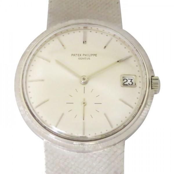 パテック フィリップ PATEK PHILIPPE カラトラバ シルバー文字盤 メンズ 腕時計 【アンティーク】
