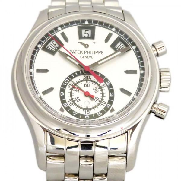 パテック・フィリップ PATEK PHILIPPE アニュアルカレンダー クロノグラフ 5960/1A-001 シルバー文字盤 メンズ 腕時計 【中古】