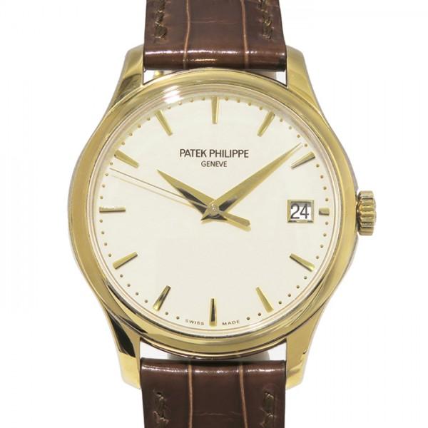 パテック・フィリップ PATEK PHILIPPE カラトラバ 5227J-001 アイボリー文字盤 メンズ 腕時計 【中古】