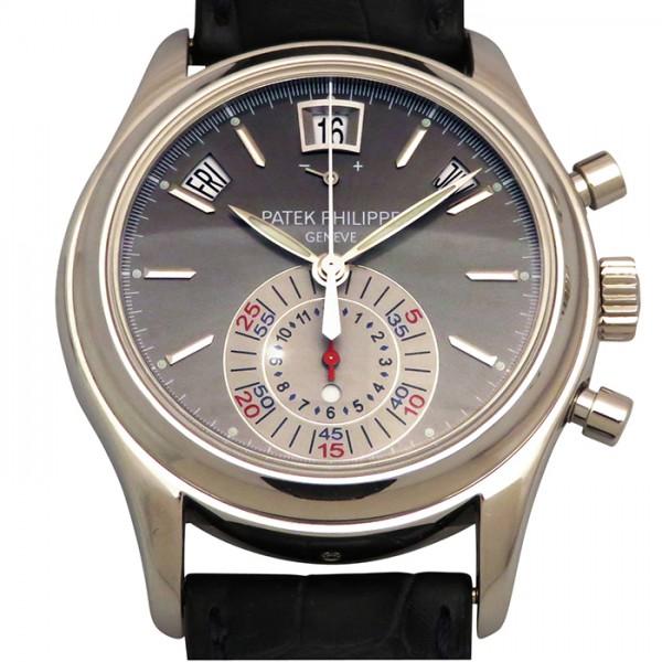 パテック・フィリップ PATEK PHILIPPE アニュアルカレンダー 5960P-001 グレー文字盤 メンズ 腕時計 【中古】
