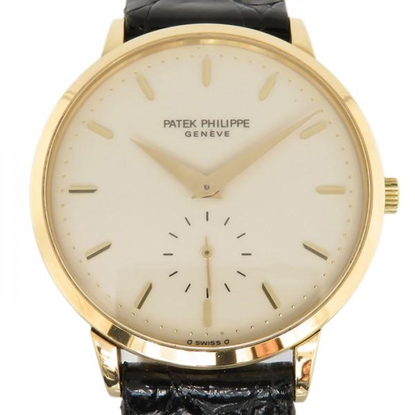 パテック フィリップ PATEK PHILIPPE カラトラバ 3893J-001 アイボリー文字盤 メンズ 腕時計 【中古】