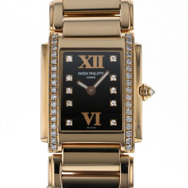 パテック フィリップ PATEK PHILIPPE Twenty-4 4908 ブラック文字盤 レディース 腕時計 【中古】