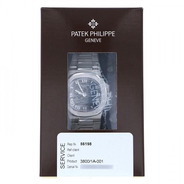 パテック・フィリップ PATEK PHILIPPE ノーチラス 3800/1A-001 ブラック文字盤 メンズ 腕時計 【中古】