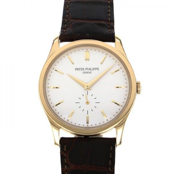 パテック・フィリップ PATEK PHILIPPE カラトラバ 5196J ホワイト文字盤 メンズ 腕時計 【中古】