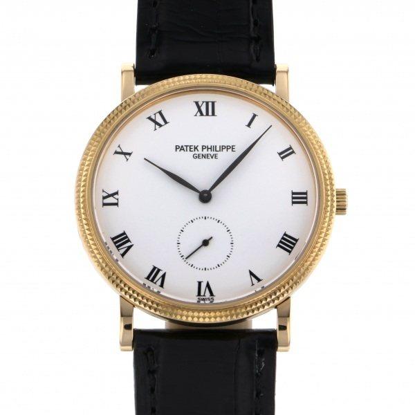 【期間限定ポイント5倍 5/5~5/31】 パテック・フィリップ PATEK PHILIPPE カラトラバ 3919J ホワイト文字盤 メンズ 腕時計 【中古】