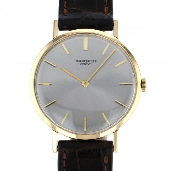 パテック・フィリップ PATEK PHILIPPE カラトラバ 3537 シルバー文字盤 メンズ 腕時計 【中古】