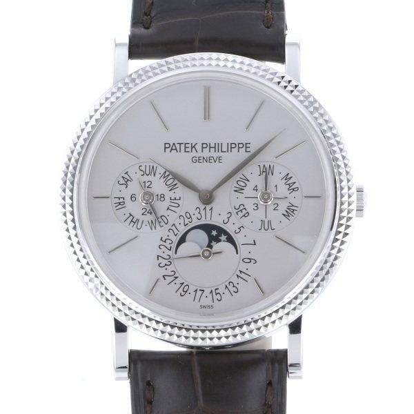 パテック・フィリップ PATEK PHILIPPE パーペチュアルカレンダー 5139G-001 シルバー文字盤 メンズ 腕時計 【中古】