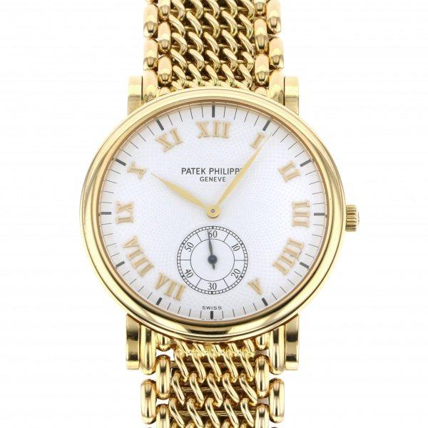 パテック・フィリップ PATEK PHILIPPE カラトラバ 5022/1J ホワイト文字盤 レディース 腕時計 【中古】
