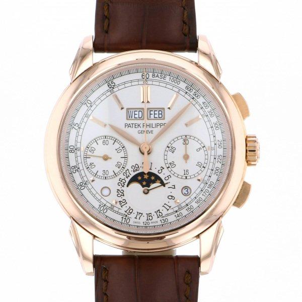 パテック・フィリップ PATEK PHILIPPE パーペチュアルカレンダー グランドコンプリケーション クロノグラフ 5270R-001 シルバー文字盤 メンズ 腕時計 【中古】