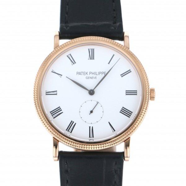 パテック・フィリップ PATEK PHILIPPE カラトラバ 5119R-001 ホワイト文字盤 メンズ 腕時計 【中古】