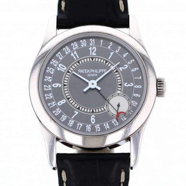 パテック・フィリップ PATEK PHILIPPE カラトラバ 6000G-010 グレー文字盤 メンズ 腕時計 【中古】
