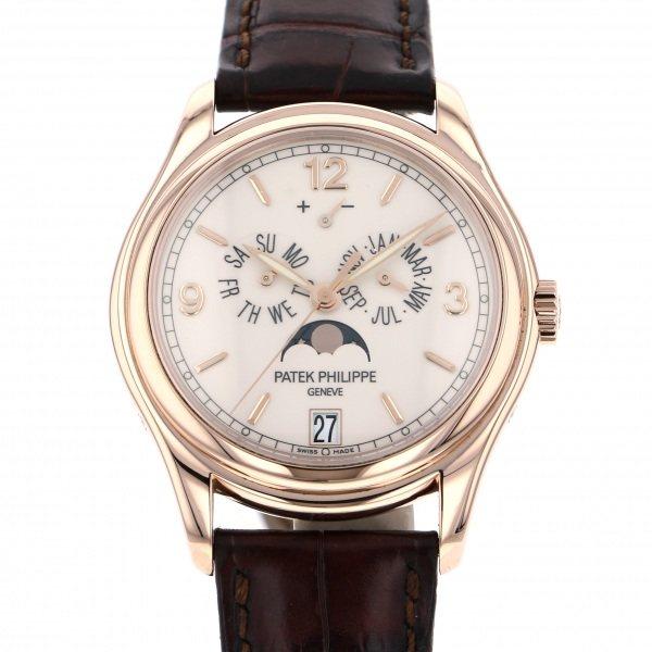 パテック・フィリップ PATEK PHILIPPE アニュアルカレンダー ムーンフェイズ 5146R-001 アイボリー文字盤 メンズ 腕時計 【中古】