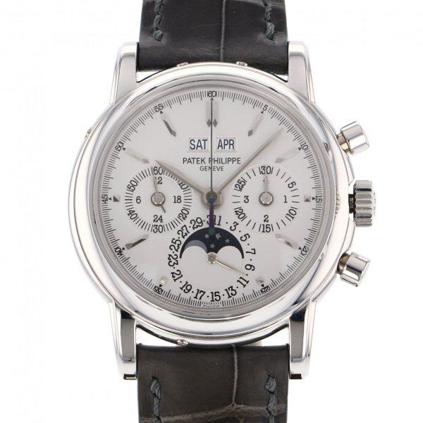 パテック・フィリップ PATEK PHILIPPE パーペチュアルカレンダー クロノグラフ 3970EP-021 シルバー文字盤 メンズ 腕時計 【中古】