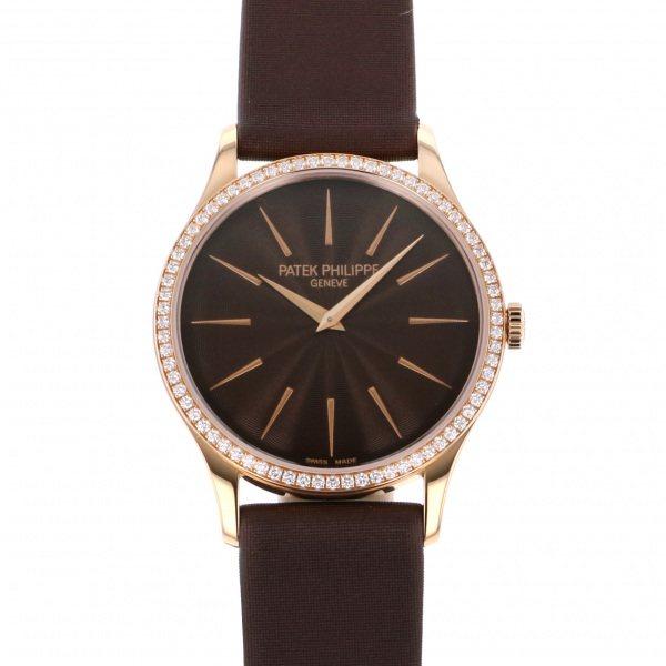 パテック・フィリップ PATEK PHILIPPE カラトラバ 4897R-001 チョコレートブラウン文字盤 レディース 腕時計 【新品】
