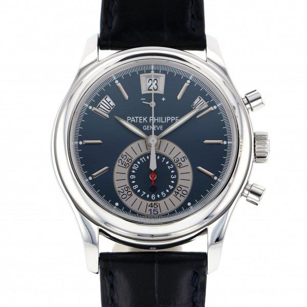 パテック・フィリップ PATEK PHILIPPE アニュアルカレンダー クロノグラフ 5960P-015 ブルー文字盤 メンズ 腕時計 【中古】