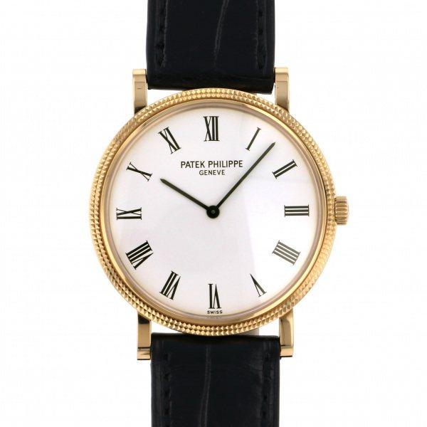 【期間限定ポイント5倍 5/5~5/31】 パテック・フィリップ PATEK PHILIPPE カラトラバ 5120J-001 ホワイト文字盤 メンズ 腕時計 【中古】
