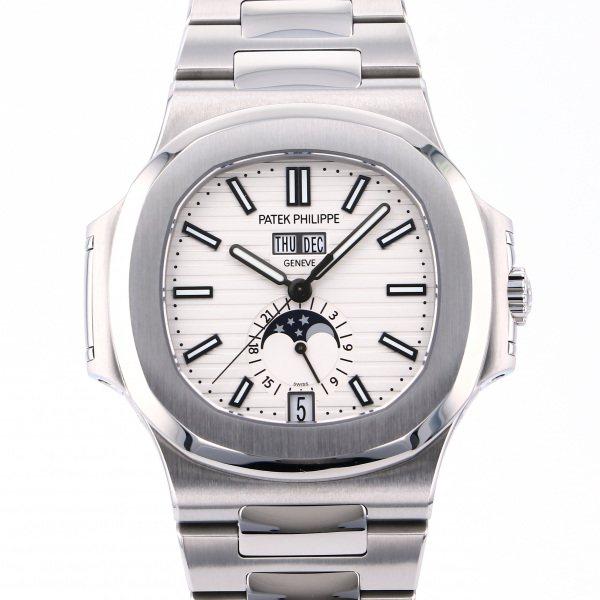 パテック・フィリップ PATEK PHILIPPE ノーチラス アニュアルカレンダー 5726/1A-010 ホワイト文字盤 メンズ 腕時計 【中古】