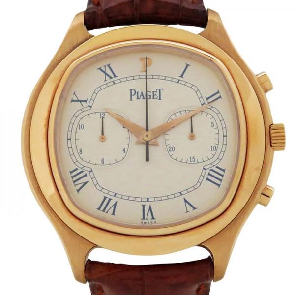 ピアジェ 全国どこでも送料無料 PIAGET エンペラドール クロノグラフ シルバー文字盤 未使用 腕時計 ポイント5倍 新品 要エントリー メンズ