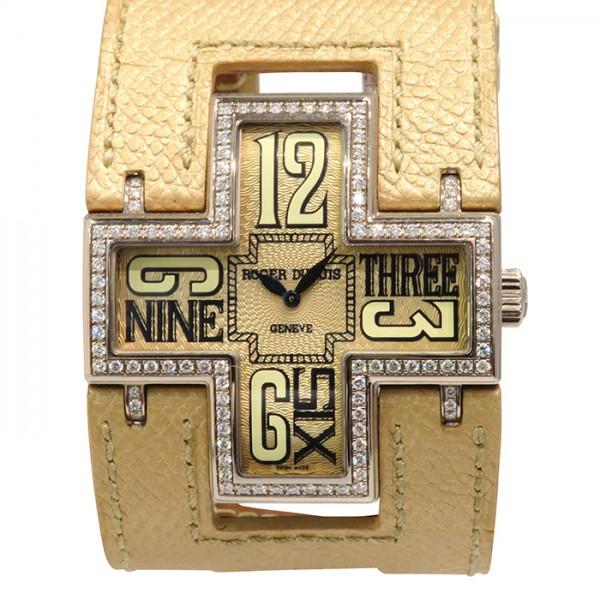 ロジェ・デュブイ ROGER DUBUIS フォローミー アイボリー文字盤 ボーイズ 腕時計 【中古】