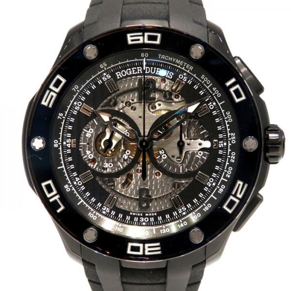 ロジェ・デュブイ ROGER DUBUIS パルジョン クロノグラフ ブラックチタン RDDBPU0005 ブラック文字盤 メンズ 腕時計 【新品】