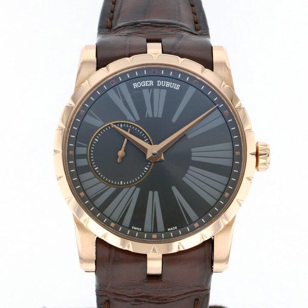 【全品 ポイント10倍 4/9~4/16】ロジェ・デュブイ ROGER DUBUIS エクスカリバー 42 DBEX0352 グレー文字盤 メンズ 腕時計 【中古】